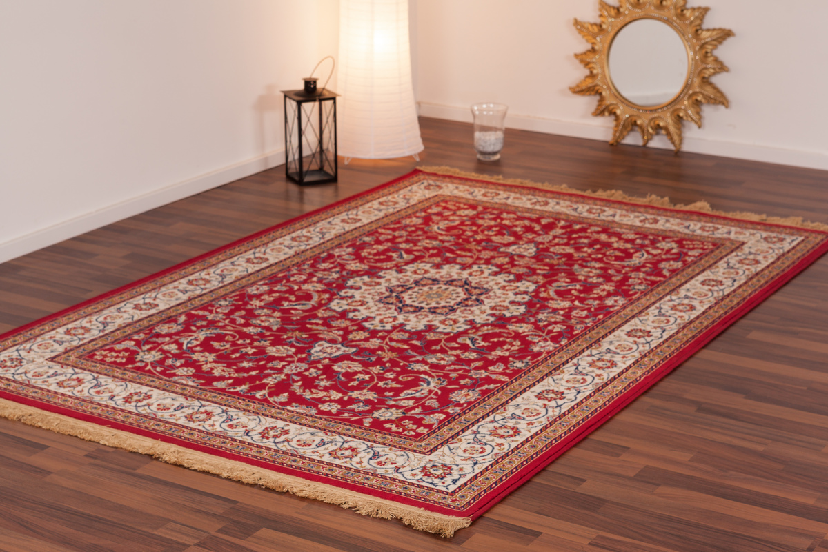 Kashmir Silk Rugs - K01CD Qatar   Aspire Rot 01