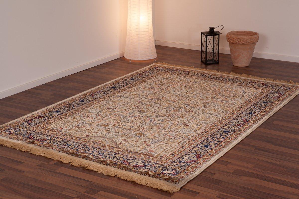 Kashmir Silk Rugs - K01De Qatar   Dukhan Elfenbein 01